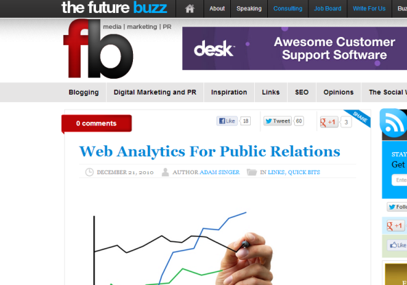 Web Analytics For Public Relations